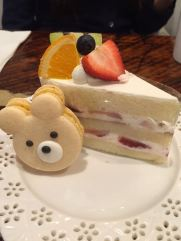 Fruit Cake & Bear Macaroon