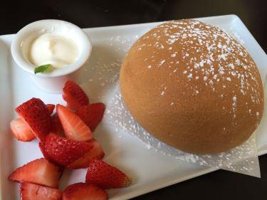 Coffee Bun with Strawberries & Cream Cheese